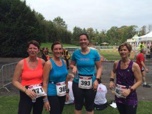 Geschafft! Unsere Rookies v.l.n.r. Claudia, Nicole, Sonja, Anja