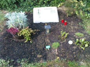 Das Grab von Heinz