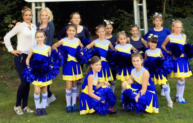 Cheerleader full-dressed